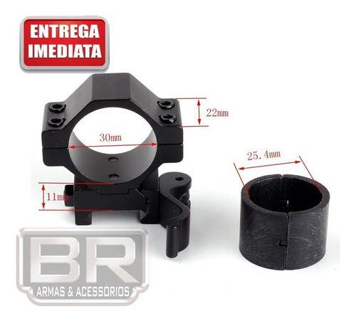 Dois Anéis Ring Com Engate Rápido 30mm/25.4mm Duas Peças