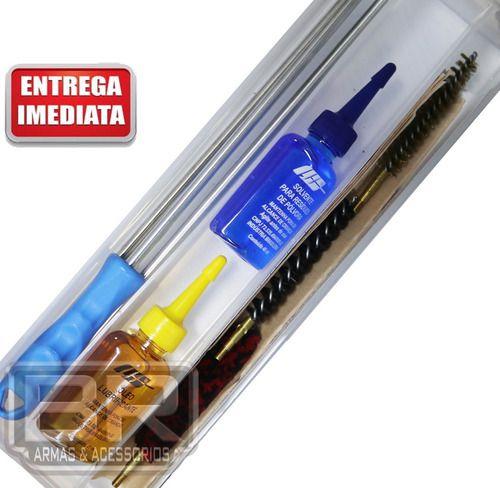 Kit Prático Limpeza Lh Armas Curtas Calibre 38spl, 38s&w 3
