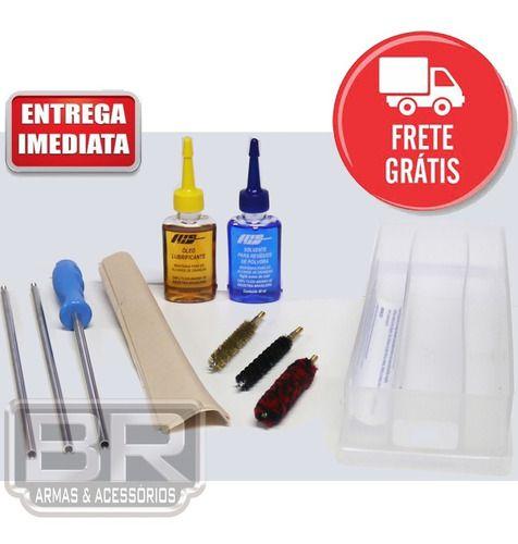 Kit Prático Limpeza Lh Armas Longas Calibre 38spl, 38s&w