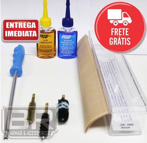 Kit Prático Limpeza Lh Armas Curtas - Calibre .40 40s&w 10mm