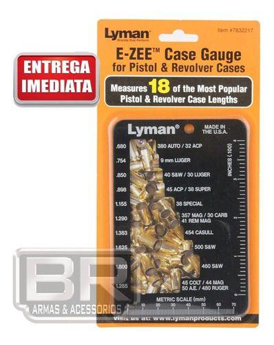 Medidor De Cartuchos Lyman E-zee Case Gauge Pistol/revolver