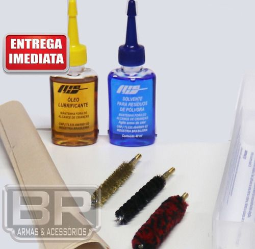 Kit Prático Limpeza Lh Armas Longas Cal. 44 Special 44 Mag