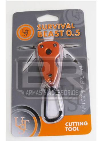 Chaveiro Tático Multi Tool Survival Beast 0.5