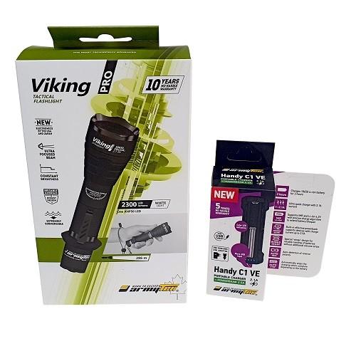 Lanterna Armytek Viking 2300 Lumens + Carregador + Bateria