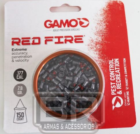 Pellets Gamo .177 / 4,5 Red Fire Pest Control 150un