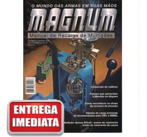 Seis Revistas Magnum Manual De Recarga Novas Lacradas