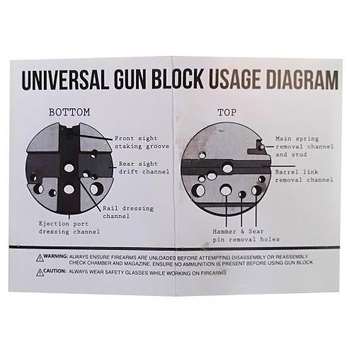 Universal Bench Block - Para Pistolas M1911, M 1911 E Outras