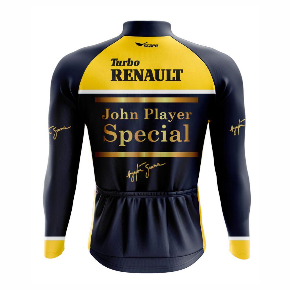 Camisa De Ciclismo Ayrton Senna Manga Longa