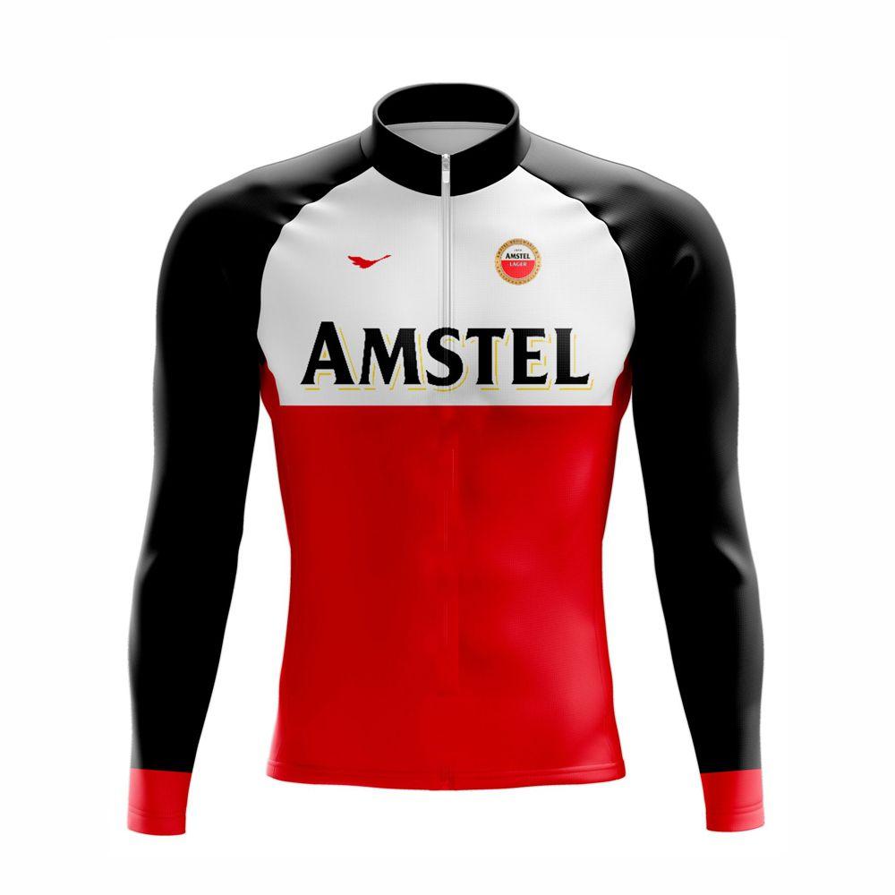Camisa De Ciclismo Amstel Manga Longa