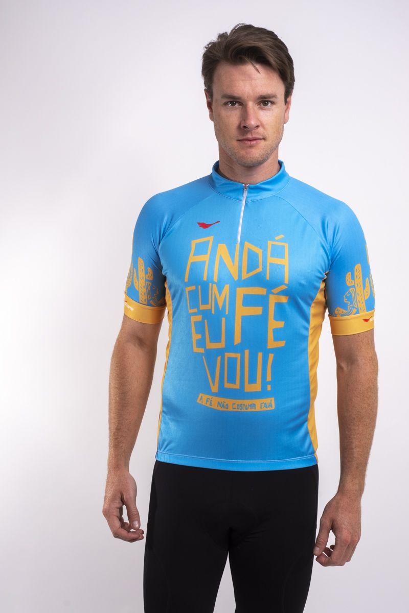 Camisa De Ciclismo Anda com fé eu vou