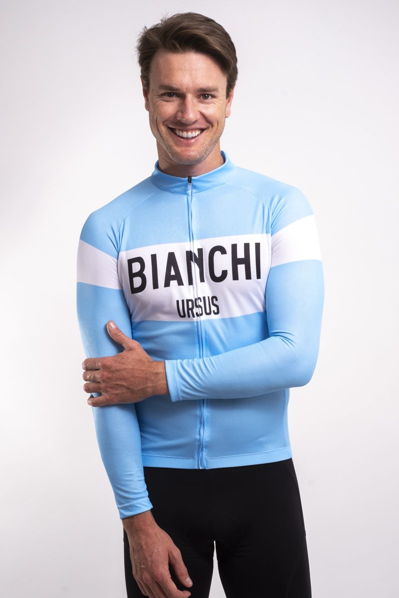 Camisa Ciclismo Bianchi Manga Longa
