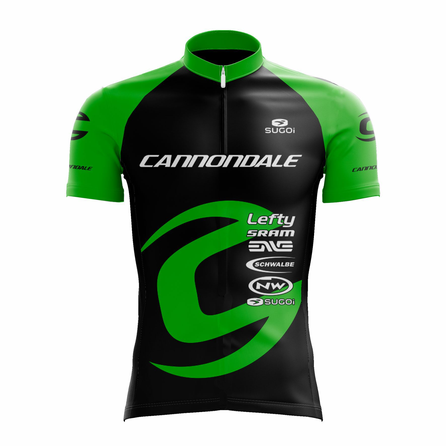 Camisa Ciclismo Cannondale EF Verde