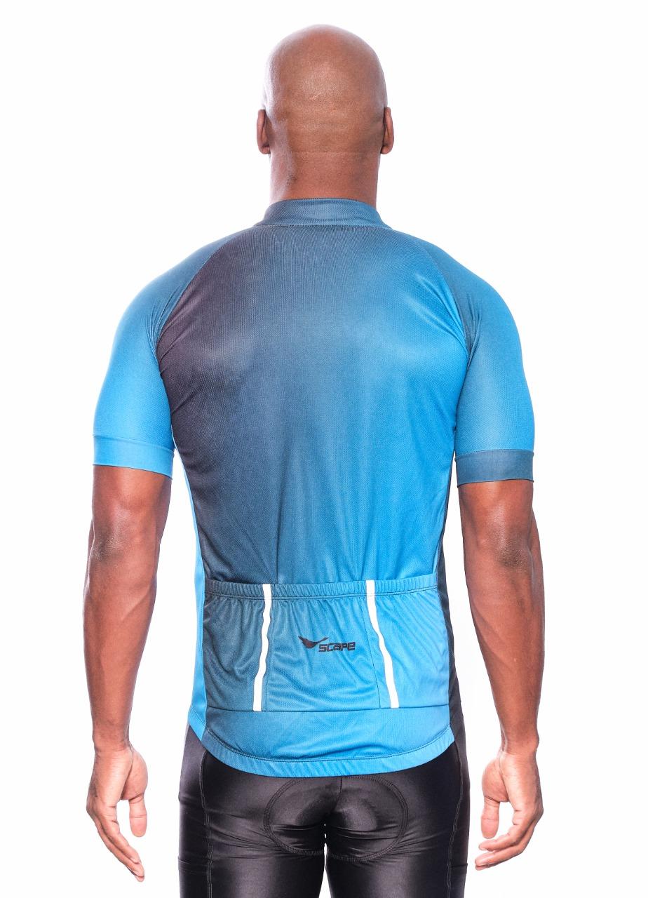 Camisa Ciclismo Degrade Azul