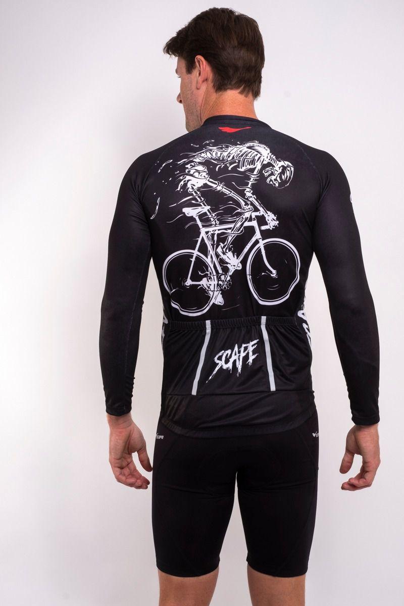 Camisa Ciclismo Esqueleto Manga Longa