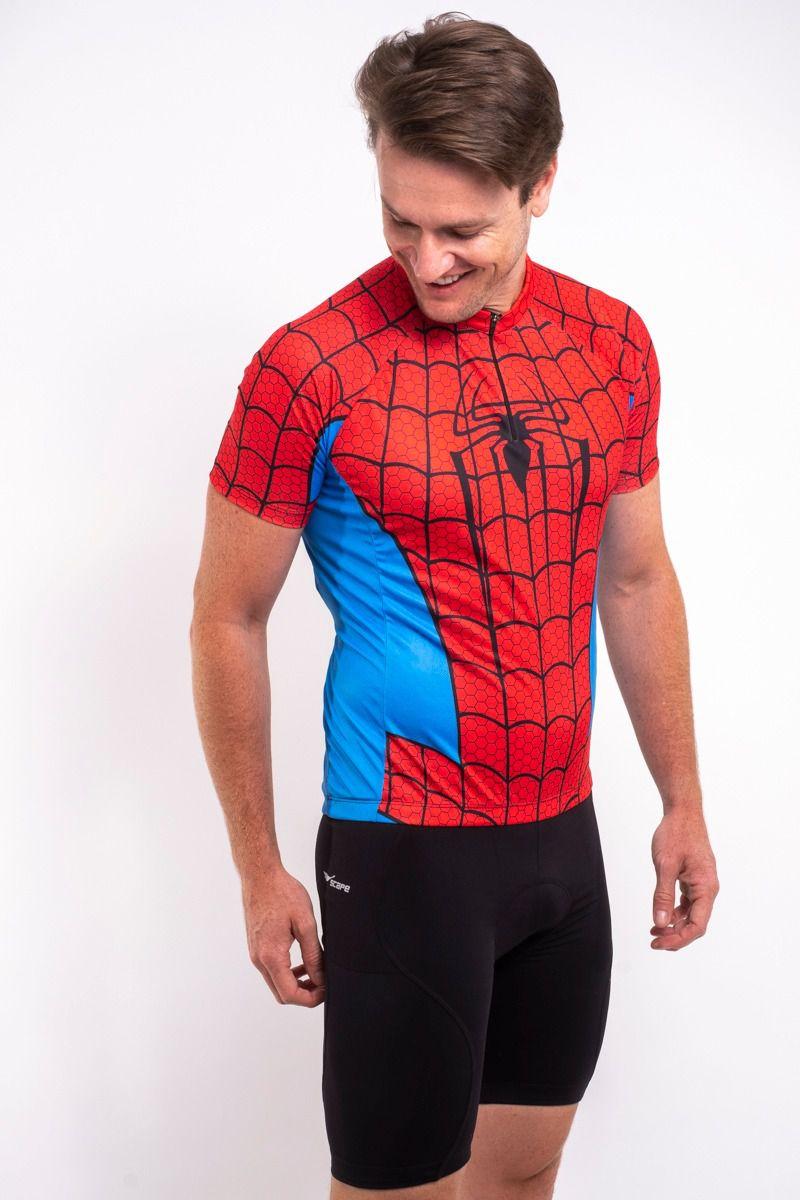 Camisa Ciclismo Homem Aranha