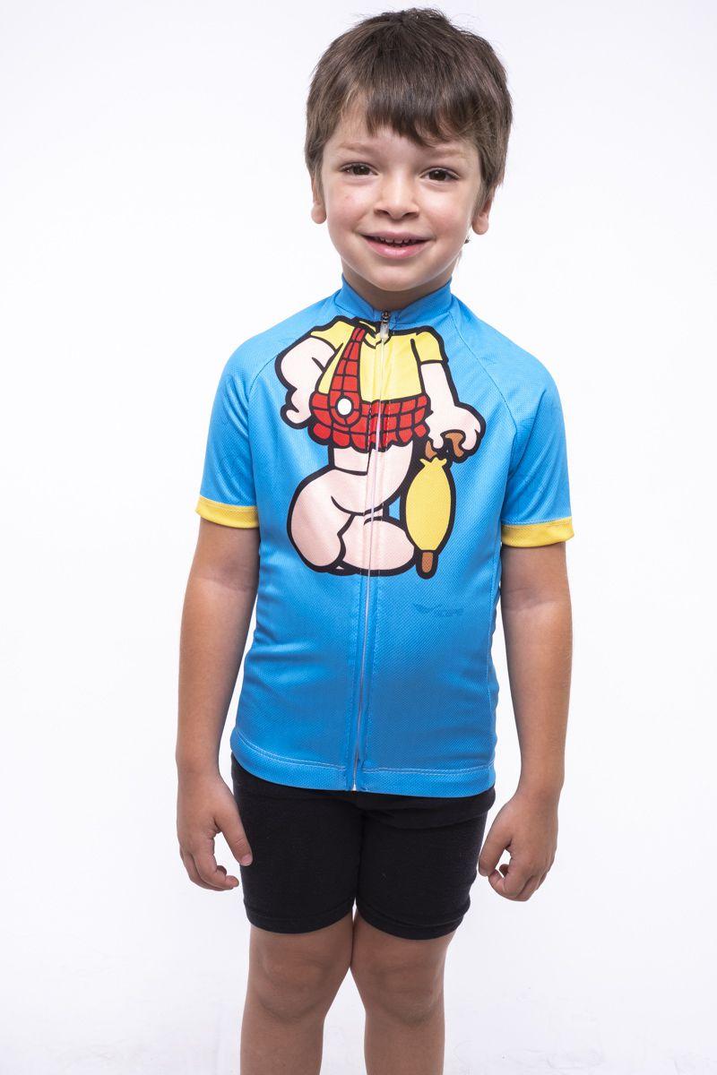Camisa Ciclismo Infantil Cascão