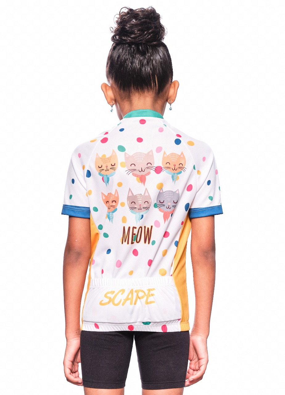 Camisa CIclismo Infantil Gatos