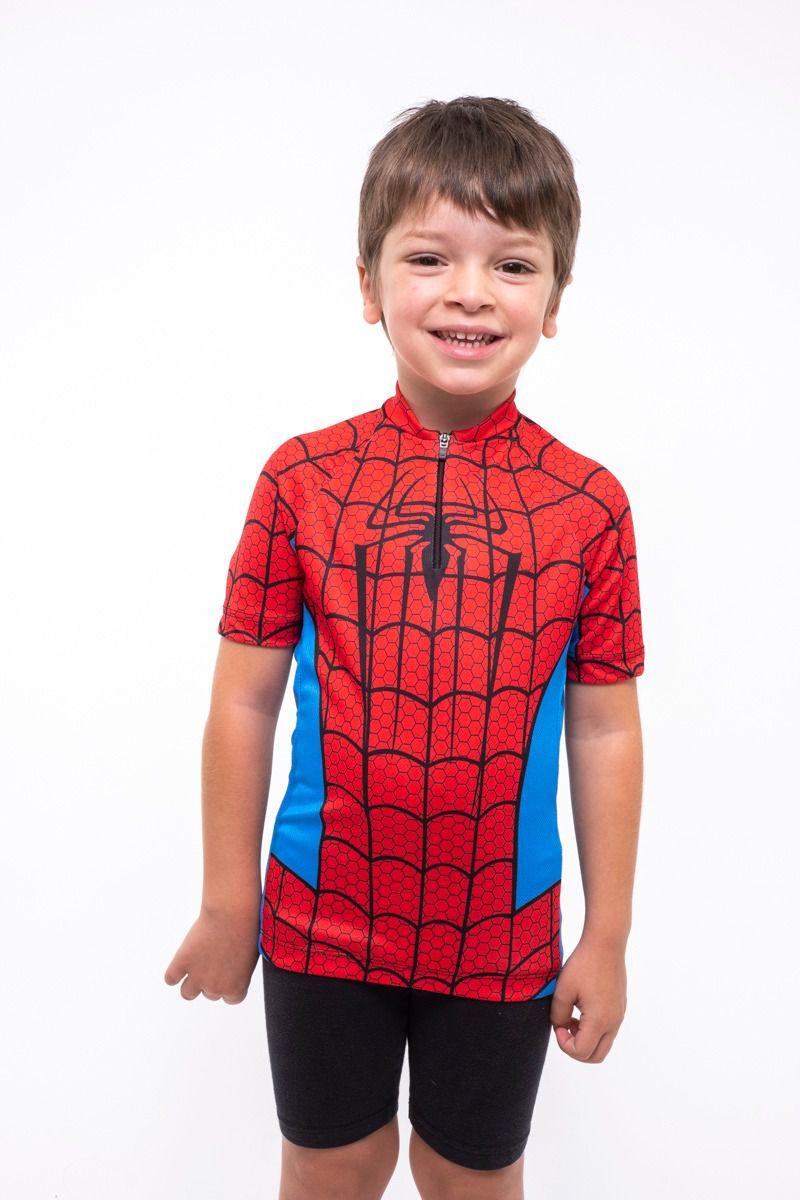 Camisa Ciclismo Infantil Homem Aranha