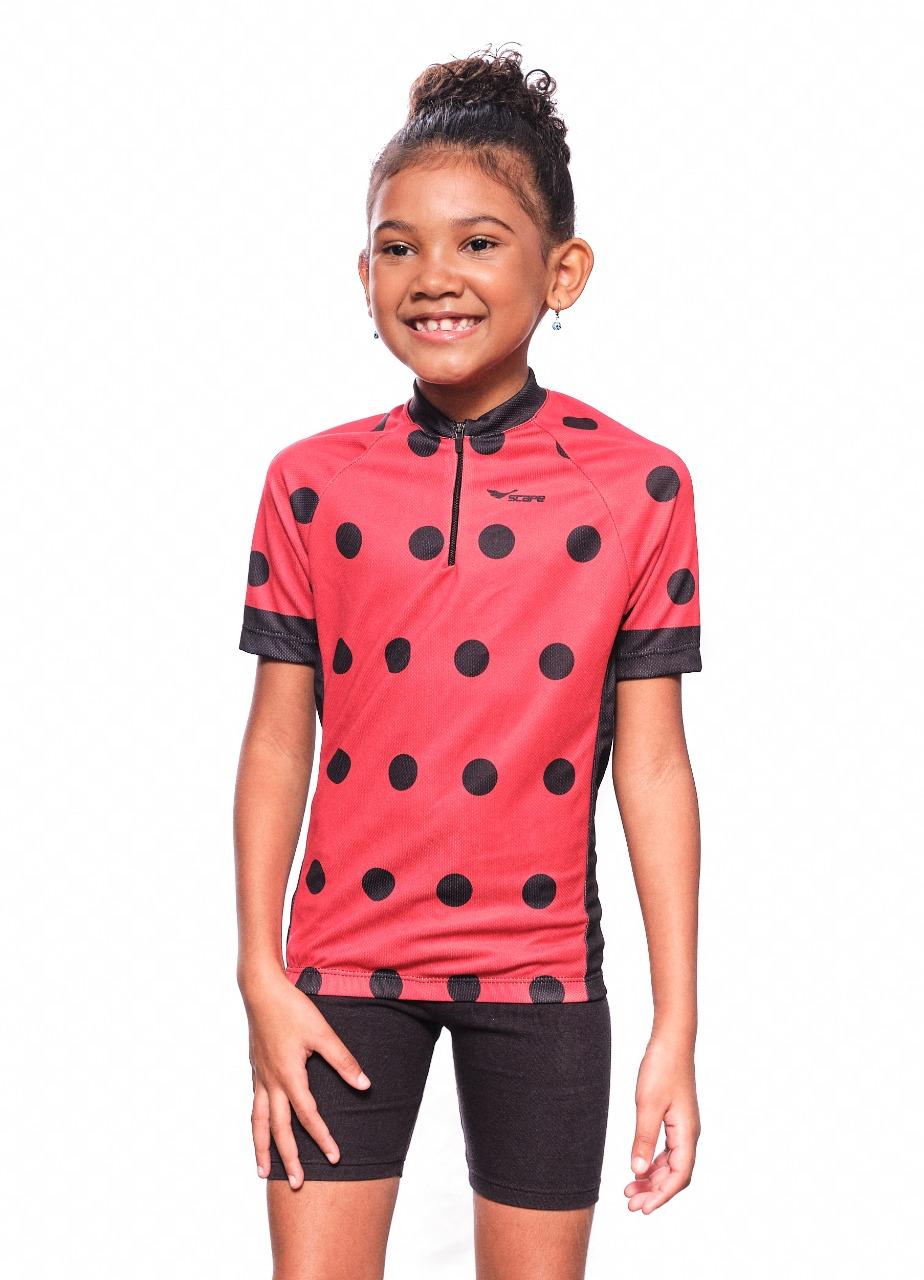 Camisa Ciclismo Infantil Joaninha