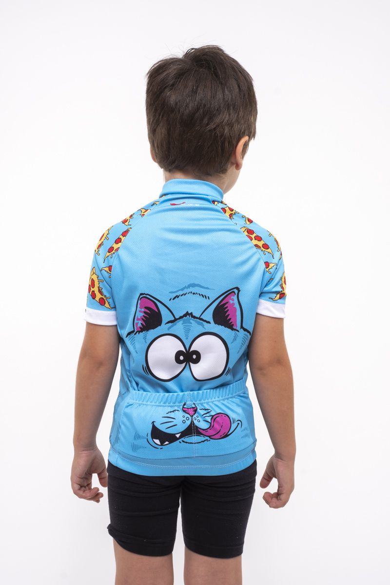 Camisa Ciclismo Infantil Pizza