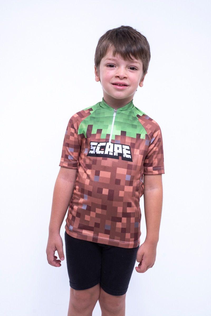 Camisa Ciclismo Infantil Scapecraft Bloco