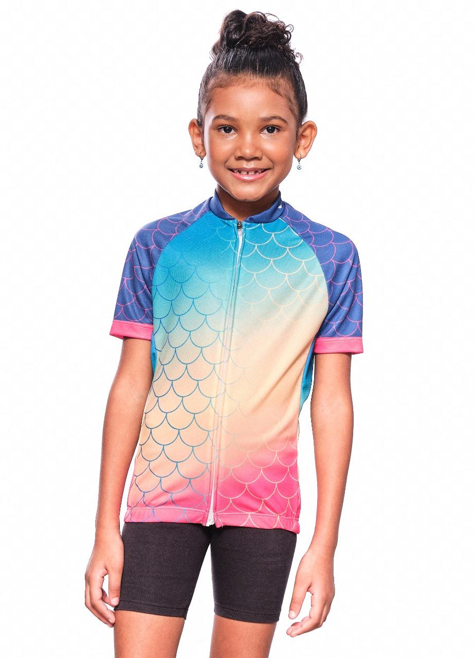 Camisa Ciclismo Infantil Sereia