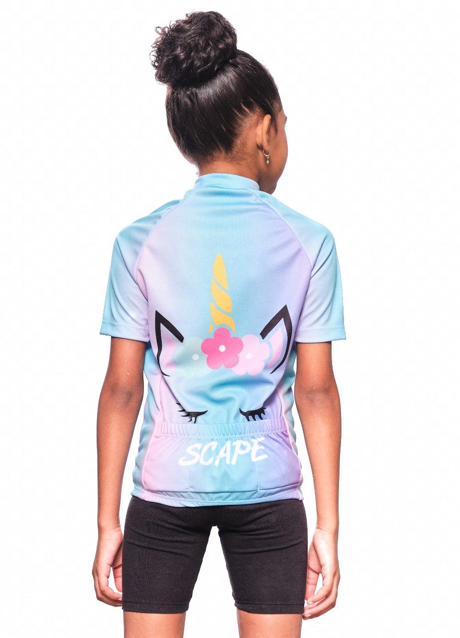Camisa Ciclismo Infantil Unicórnio