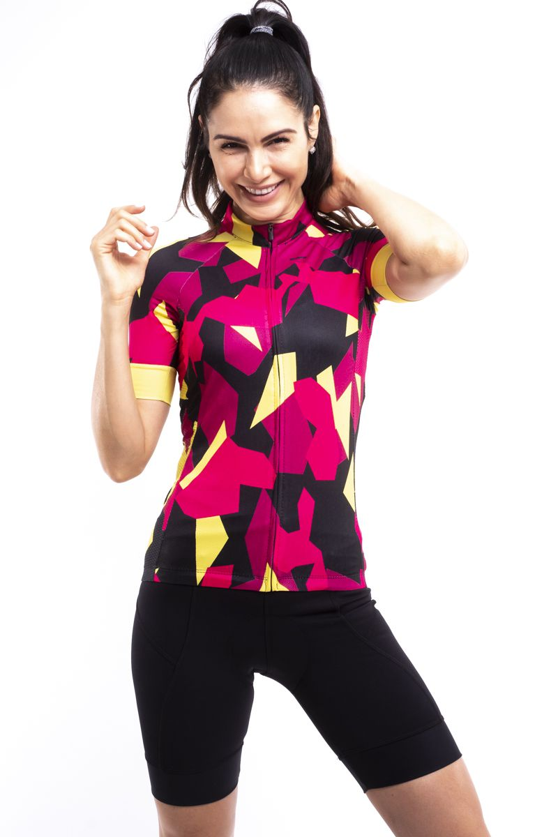 Camisa Ciclismo Jungle Manga Curta Feminina