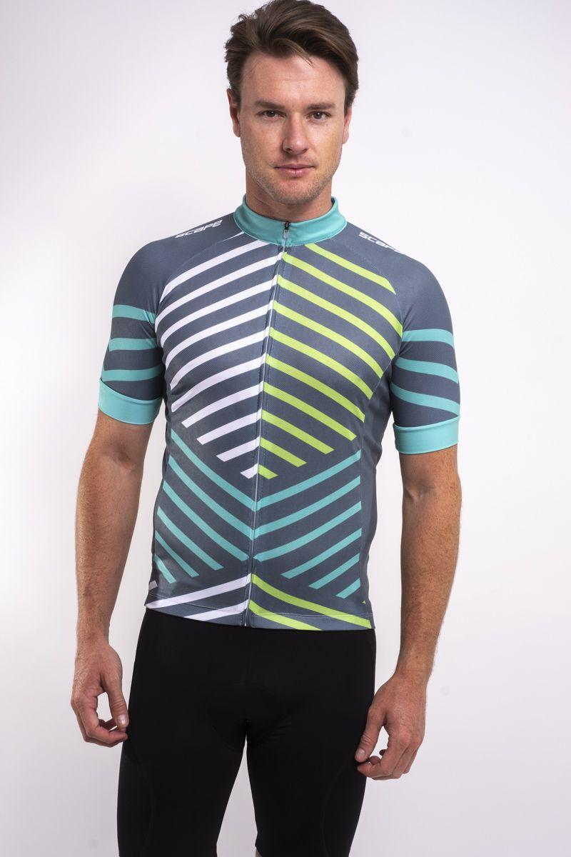 Camisa Ciclismo Listras Manga Curta