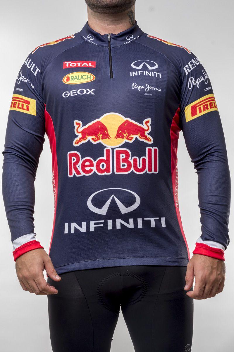 Camisa Ciclismo Red Bull Manga Longa