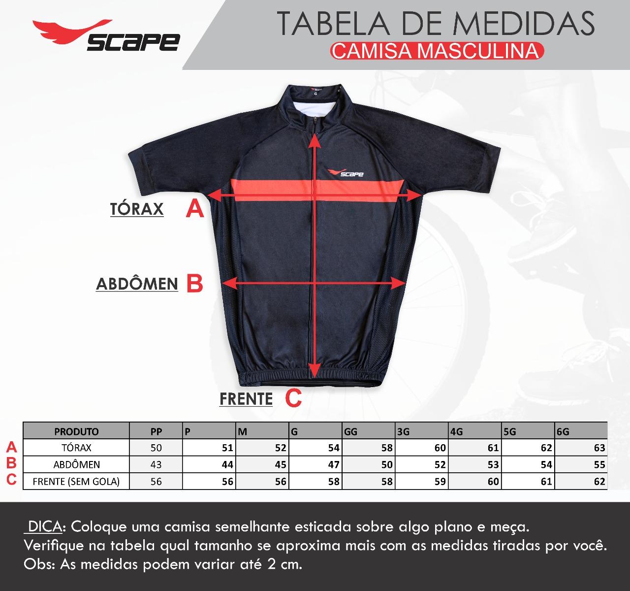 Camisa de Ciclismo Cringe Scape Preto