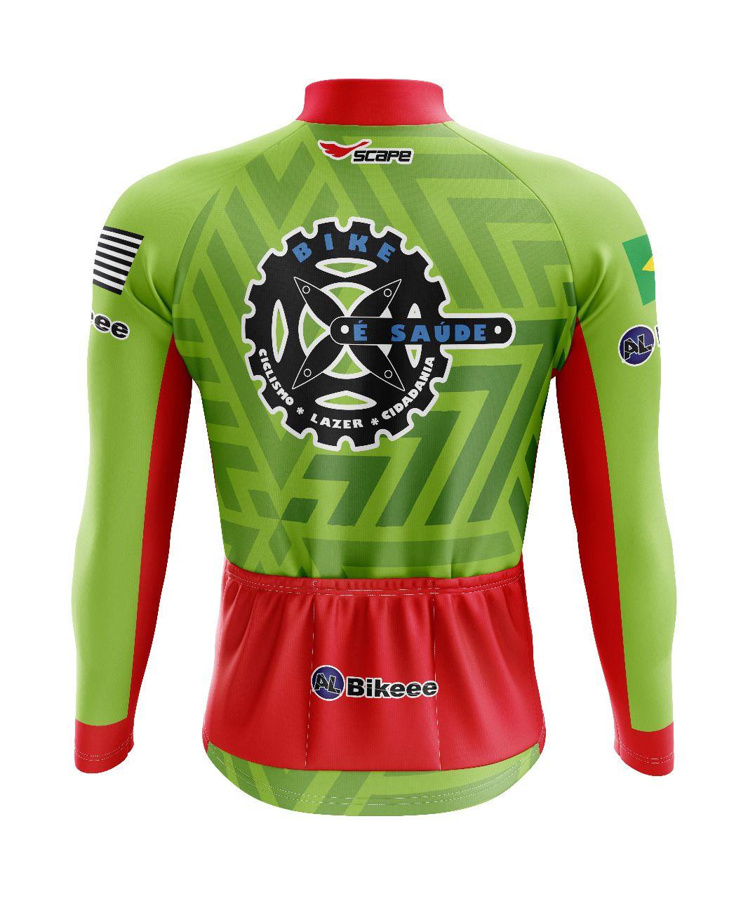 Camisa Personalizada Bike é saúde  Manga Longa