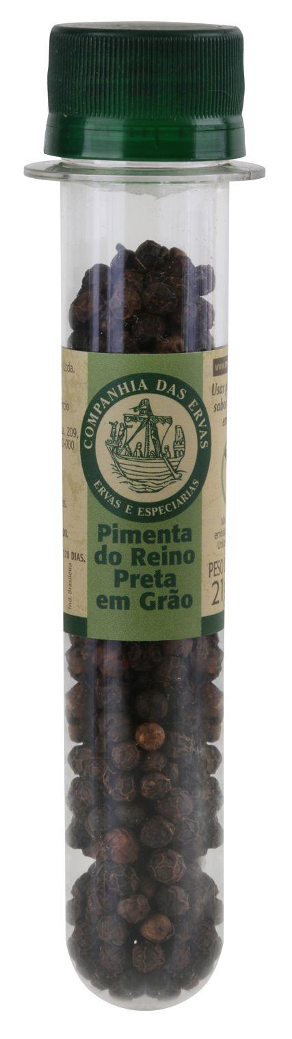 PIMENTA REINO PRETA GRÃOS 21g