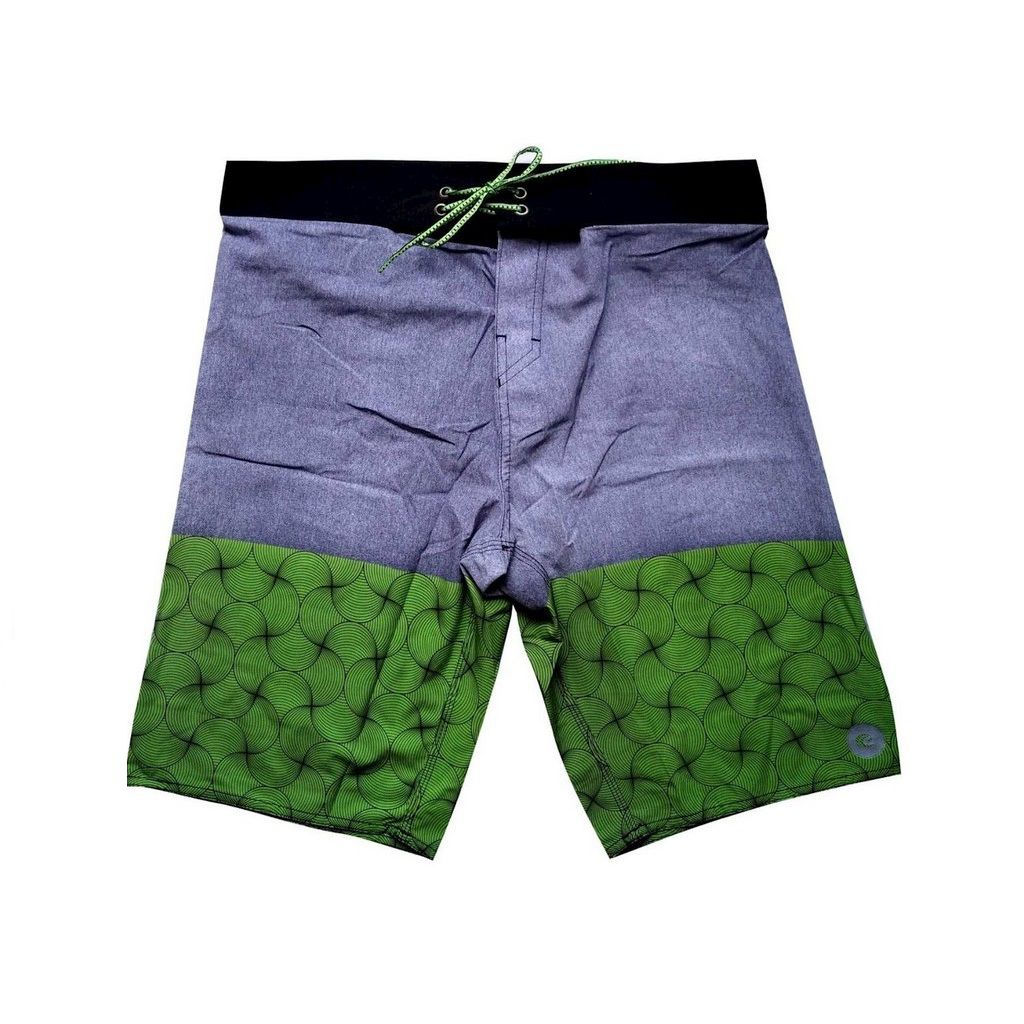 Bermuda Boardshort Stretch WSS Waves Grey