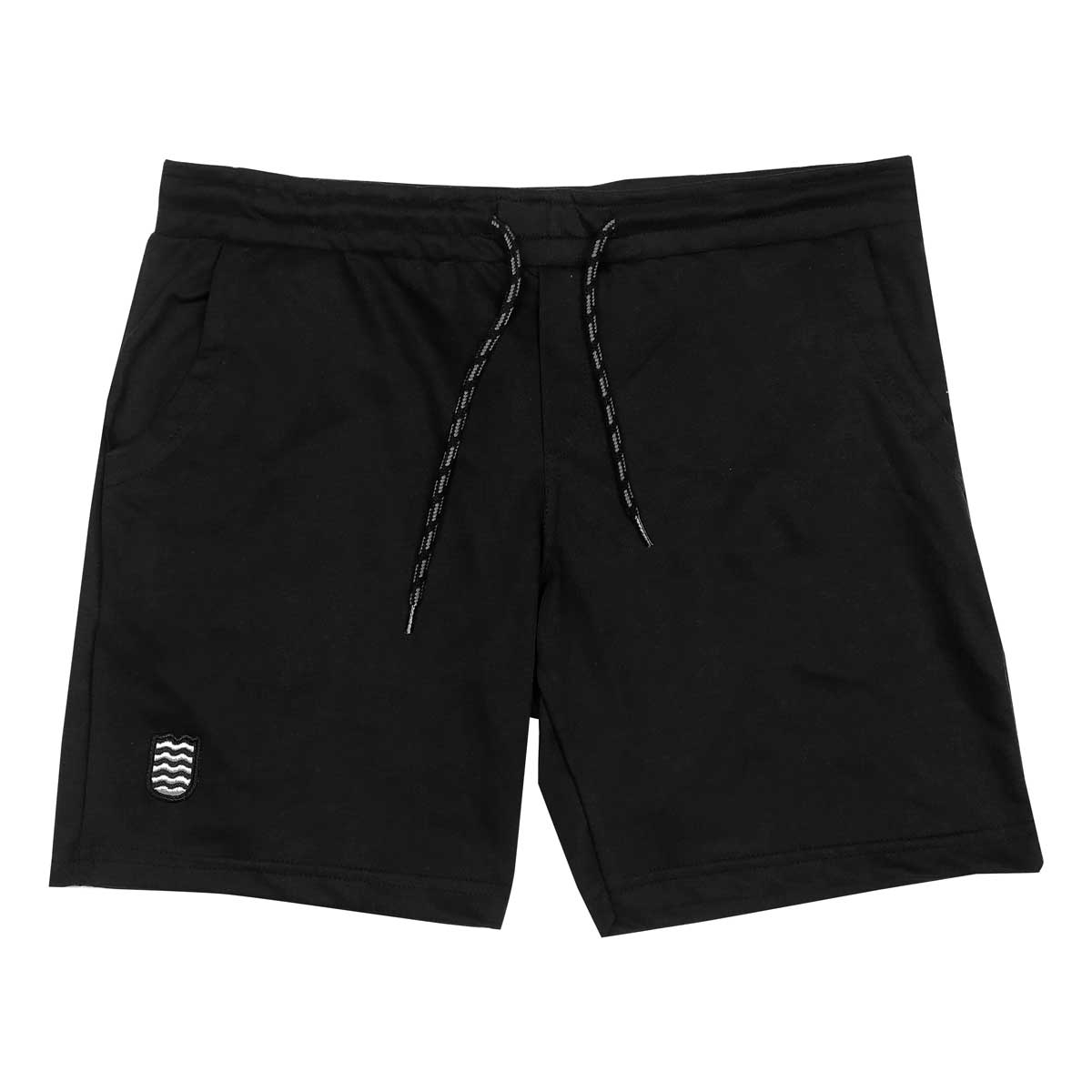 Bermuda Moletom Plus Size Wss Icon Surf Preto