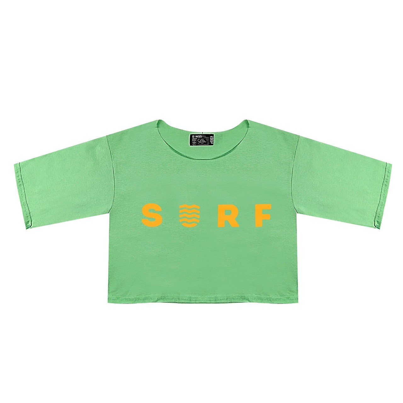 Blusa Cropped Wss Orange Neon Verde