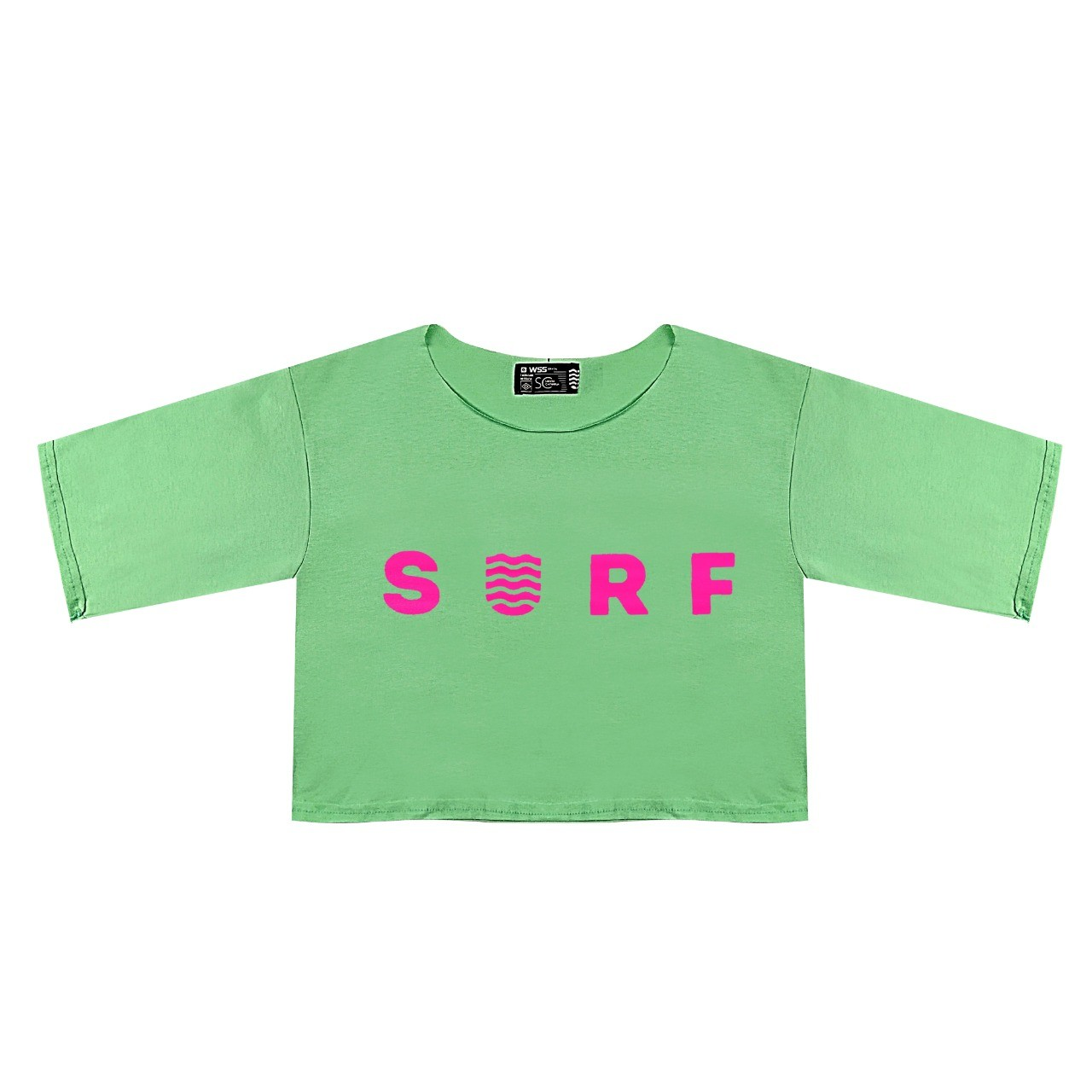 Blusa Cropped Wss Pink Neon Verde