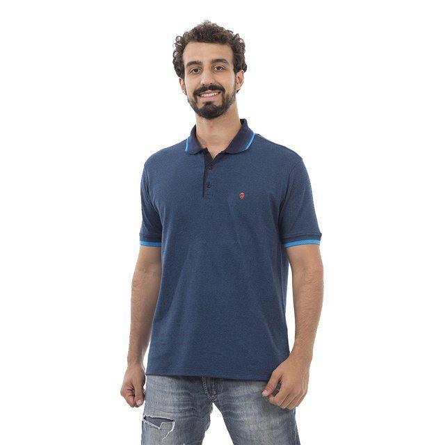 Camisa Polo Poker Stars Premium Dark Turqueza + Relógio de Bolso