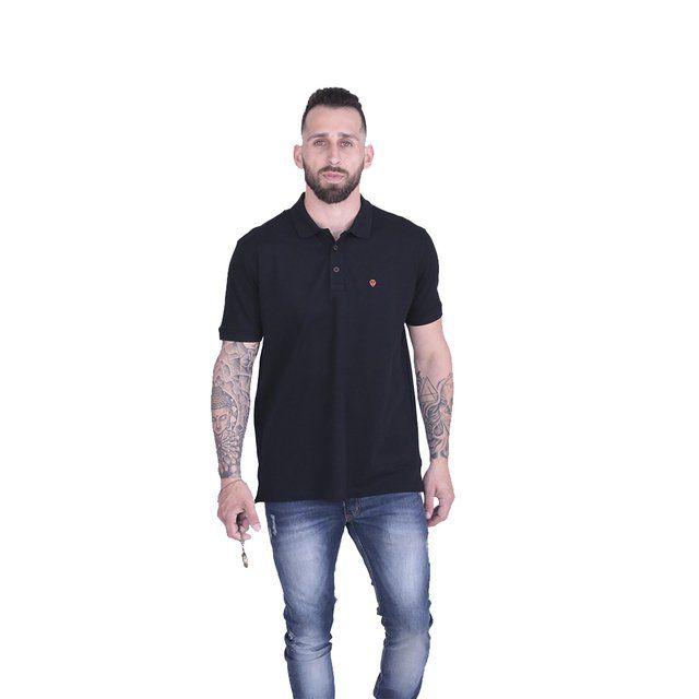 Camisa Polo Poker Stars Preta Premium c/Abertura + Relógio de Bolso