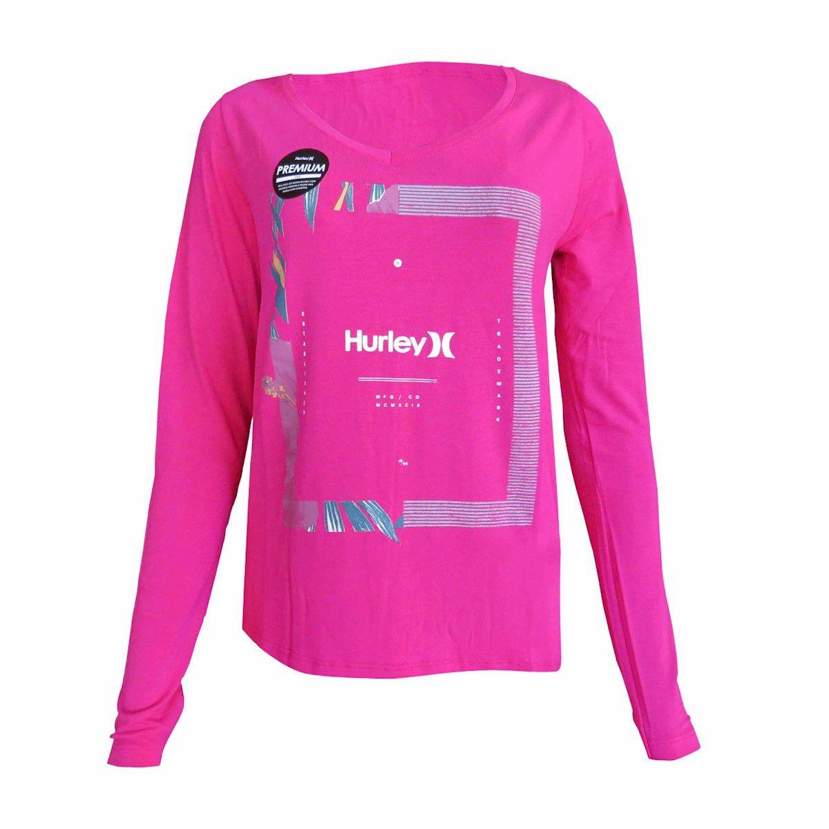 Camiseta Hurley Bloom Rosa