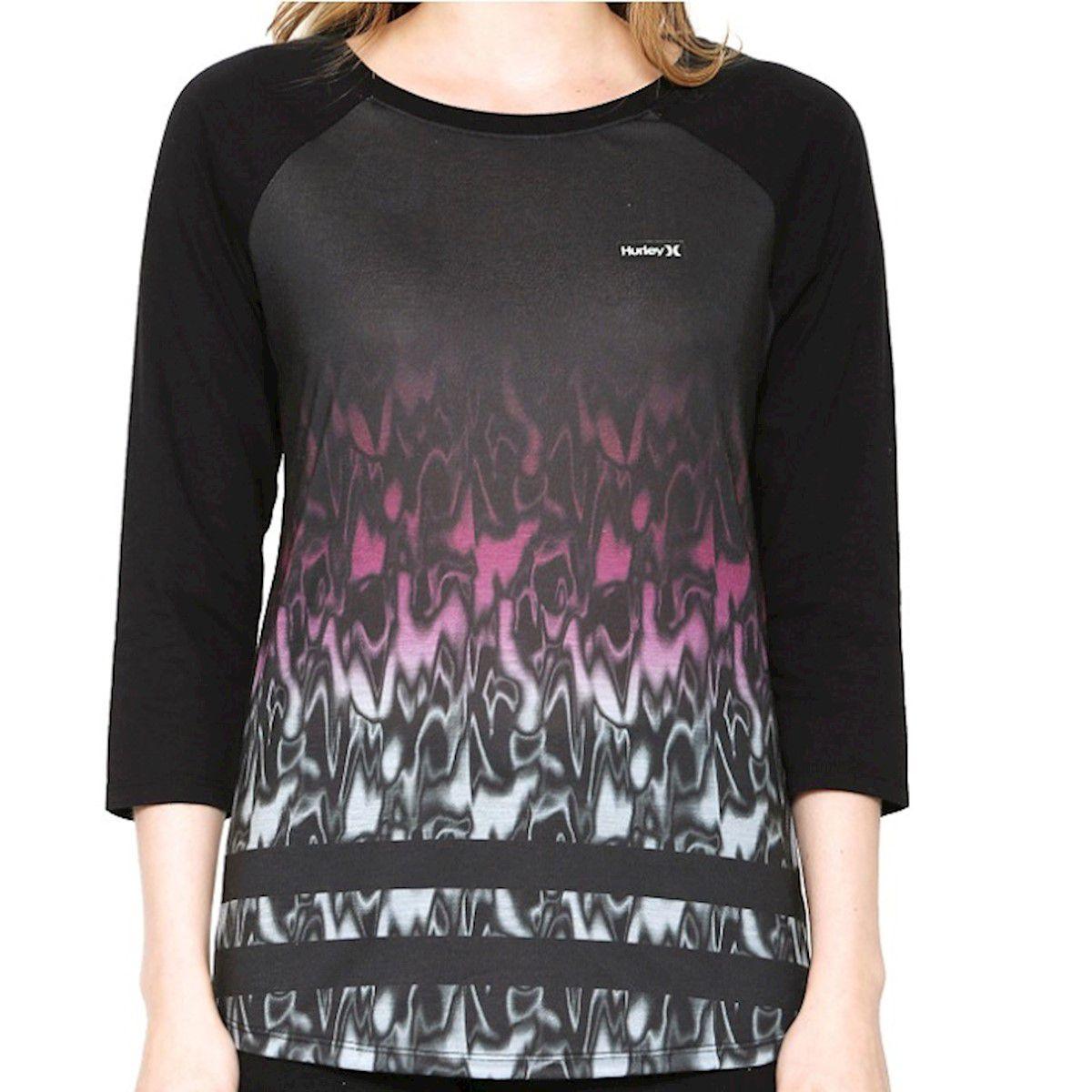 Camiseta Hurley Especial Reglan Waves Roxo