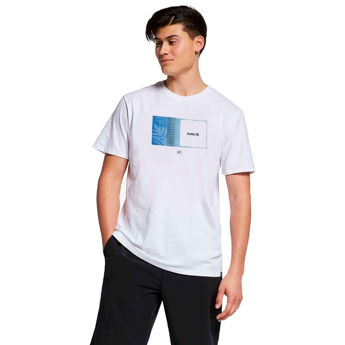 Camiseta Hurley Silk Sig Zane Moorea White