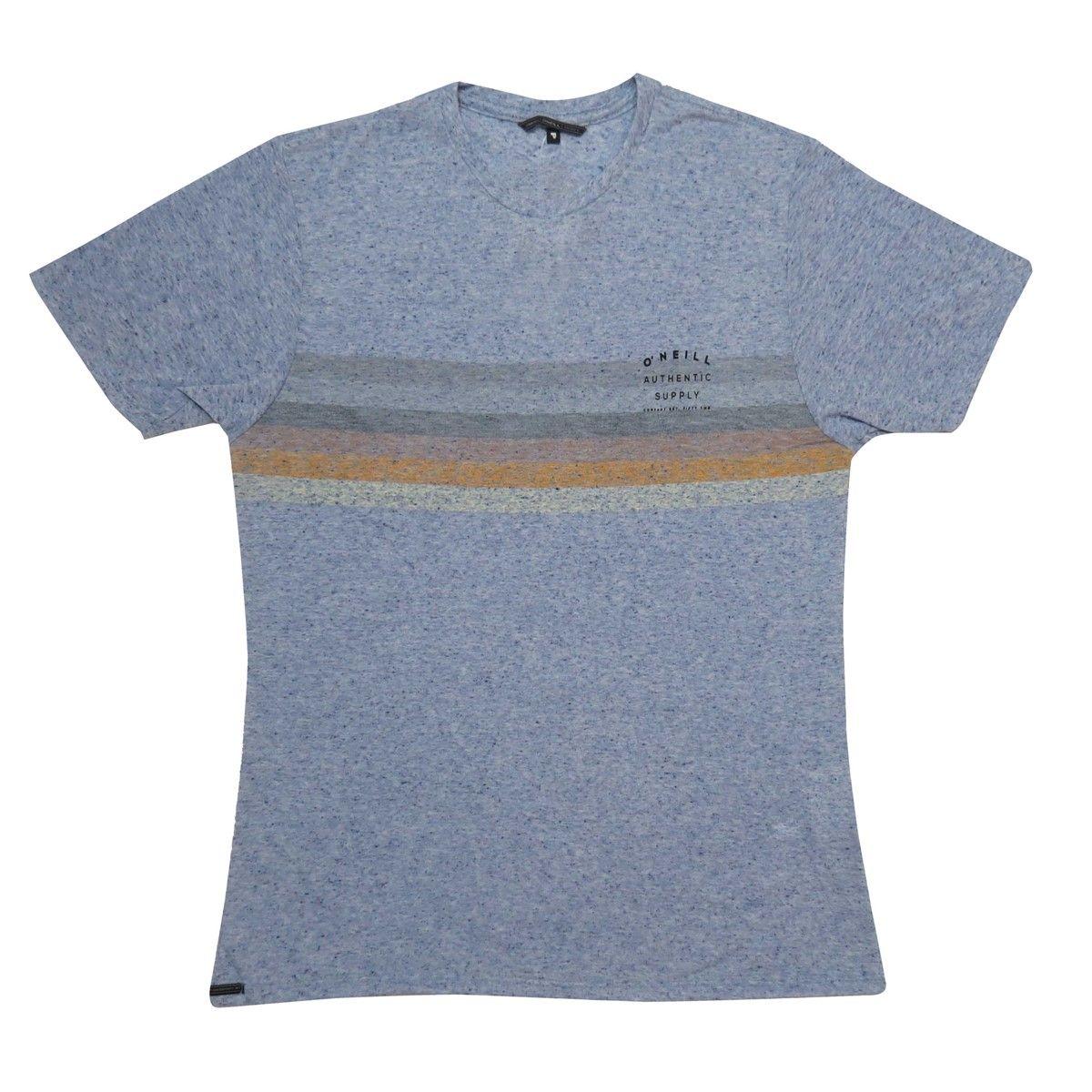 Camiseta O'Neill Estampa Bad Vibes Mescla Blue