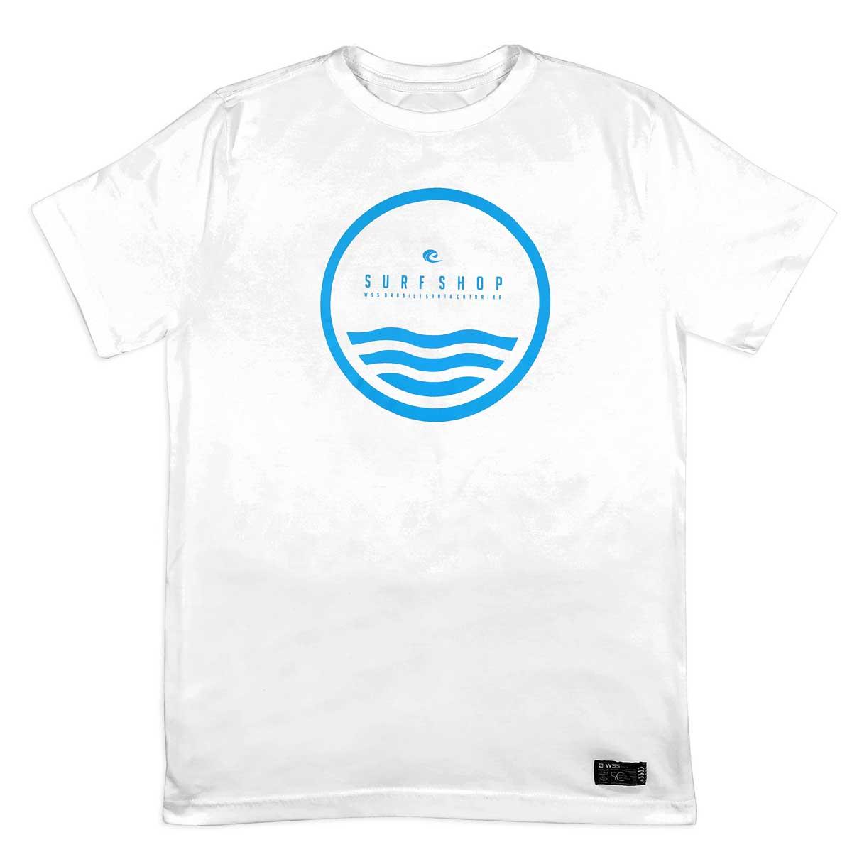 Camiseta Plus Size WSS Brasil Circle Wave White