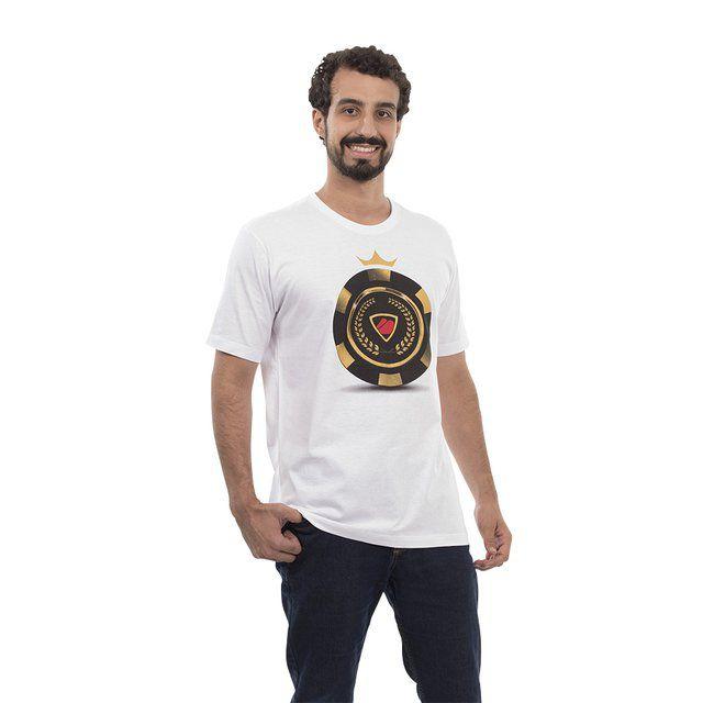Camiseta Poker Stars Ficha Dourada