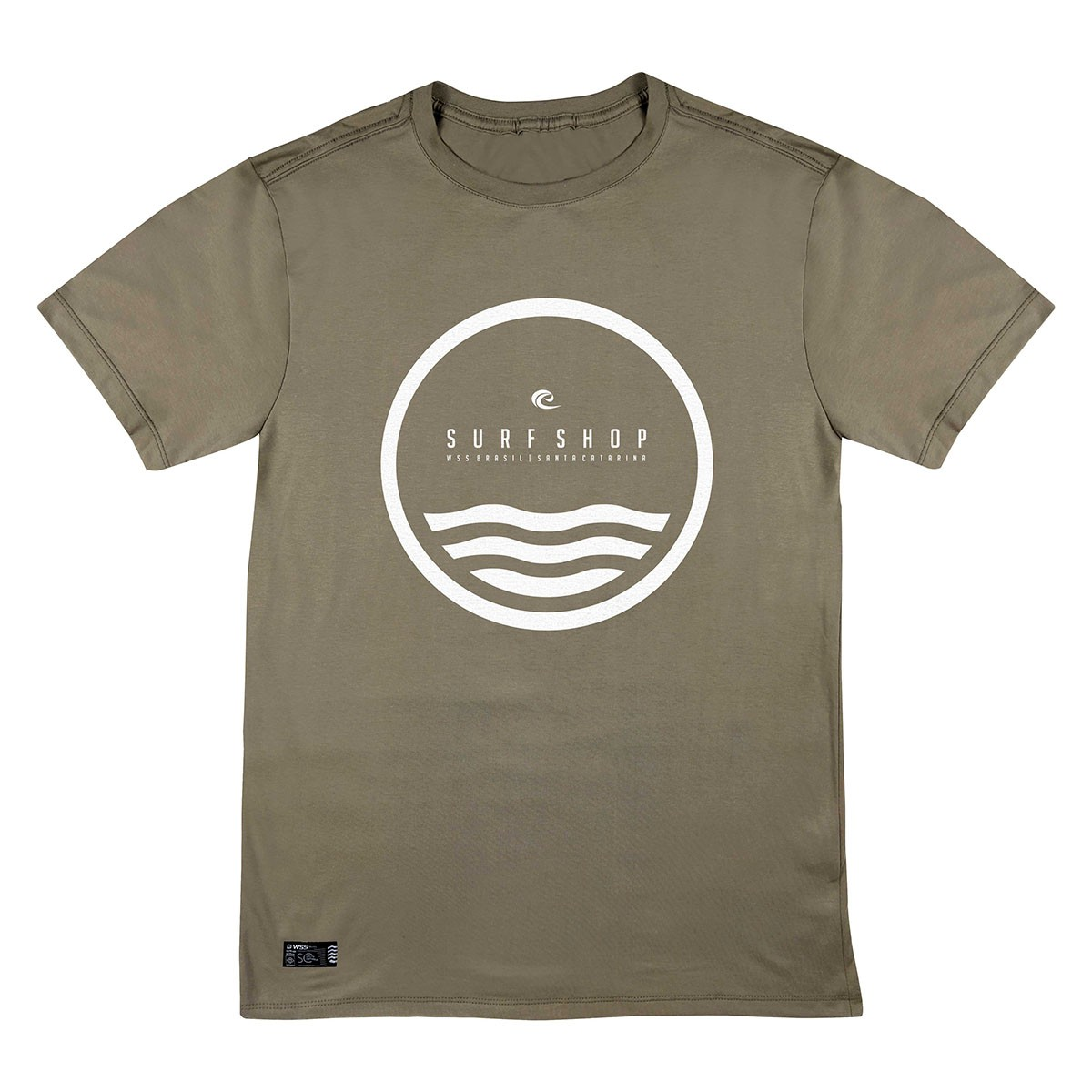 Camiseta WSS Brasil Circle Light Khaki