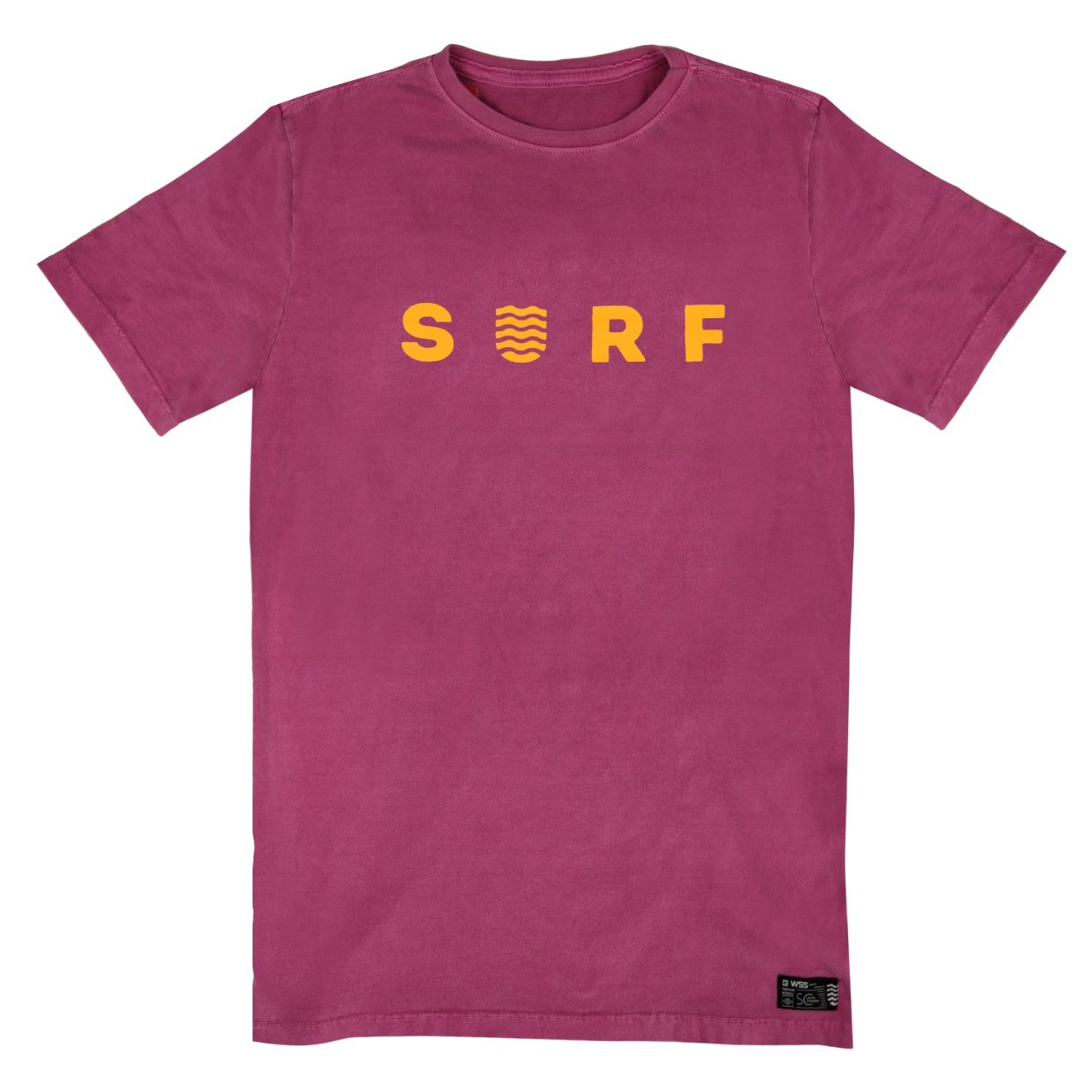 Camiseta WSS Chiclete Estonada Surf Web Neon Orange