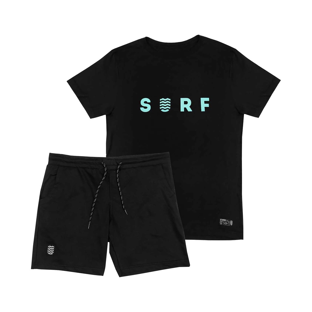Kit Bermuda Moletom + Camiseta WSS Brasil SURF Black