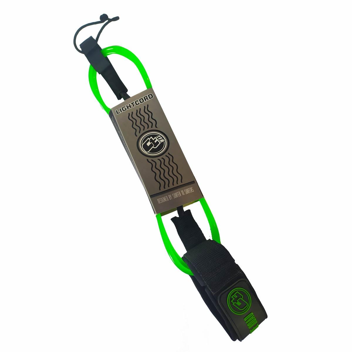 Leash Surf Ct Wax Lightcord 9 Pés 7mm Verde