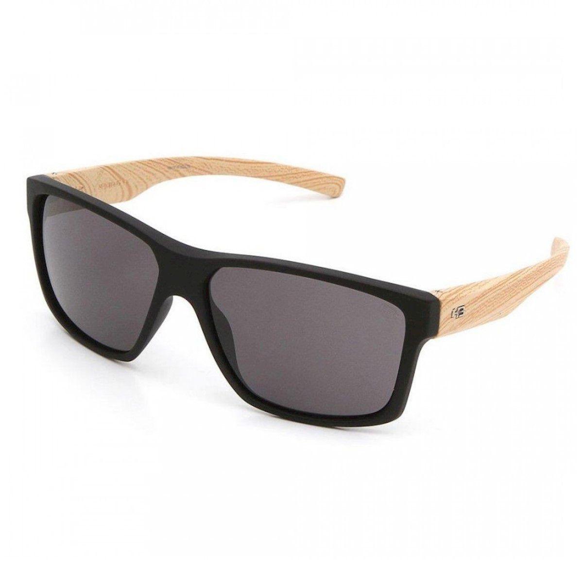 Óculos de Sol HB Freak Matte Lenses  Black Wood Gray